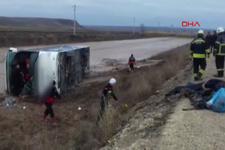 Yozgat'ta yolcu otobüsü şarampole devrildi 1 ölü, 20 yaralı