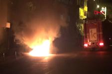 Zonguldak'ta yanan araçtaki karı-koca son anda kurtuldu