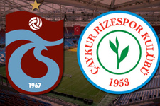 Karadeniz derbisinde 11'ler belli oldu! Trabzonspor-Çaykur Rizespor
