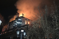 Karabük'te tarihi konak alev alev yandı
