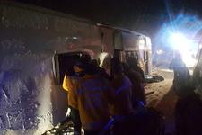 Kırşehir'de yolcu otobüsü devrildi 3 kişi hayatını kaybetti