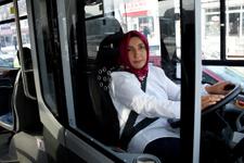 'Git evinde bulaşık yıka' diyenlere inat otobüs şoförü oldu