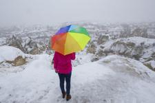 Kapadokya'dan muhteşem kar manzaraları!