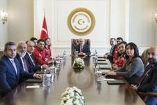 Başbakan Binali Yıldırım milli sporcuları kabul etti