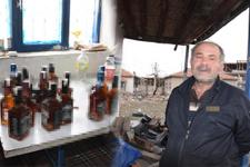 Evinde 84 şişe sahte içkiyle yakalandı içiciyim dedi