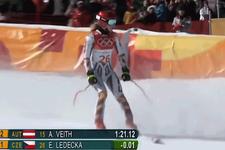 Ödünç kayak takımıyla altın madalya kazandı
