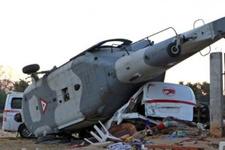 Bakanı taşıyan helikopter düştü!