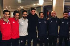 Mario Gomez Beşiktaş'ı ziyaret etti