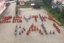 Okul bahçesine böyle 'Zeytin Dalı' yazdılar