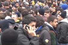 Fenerbahçe taraftarları derbi için Vodafone Park'ta