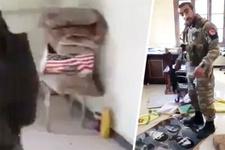 PKK karargahından ABD bayrakları çıktı