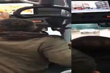 Halk otobüsünde şoförden kadın yolcuya tokat iddiası