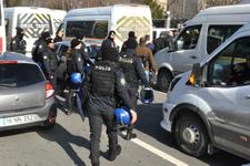 Ankara'da servisçilerin eylemine polis müdahalesi!