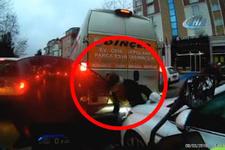 İstanbul'da korkunç anlar yaşlı adam iki aracın arasında sıkıştı