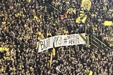 Dortmund tribünlerinde skandal YPG pankartı!