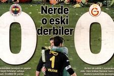 Gazetelerin Fenerbahçe Galatasaray maçı manşetleri