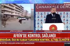 Cumhurbaşkanı Erdoğan'dan flaş Afrin açıklaması: 'Bir müjdeyi paylaşmak istiyorum'