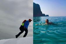 Aynı gün hem kar, hem de deniz keyfi