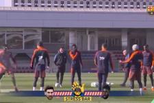 Messi antrenmanda neye uğradığını şaşırdı