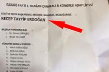 İYİ Parti kongresinde oy zarfından Erdoğan'ın adı çıktı