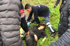 Babasının düştüğü yeri görmek isteyen kızı da aynı yerden düştü