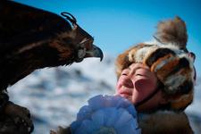 Moğolistan kartal festivalinden renkli görüntüler