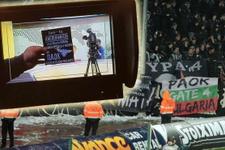 PAOK taraftarları televizyon kanalını bastı!