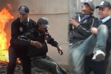Taksim'de hareketli dakikalar! Kahraman polis böyle kurtardı