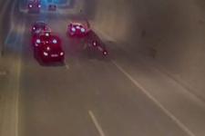 Üsküdar Tantavi tünelindeki zincirleme kaza kamerada