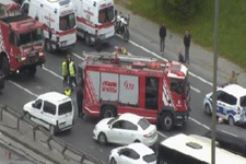 FSM köprü girişinde büyük kaza! Trafik felç