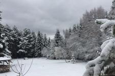 Bahar ortasında Uludağ'a kar yağdı