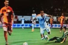 Galatasaray maçına damga vuran pozisyon