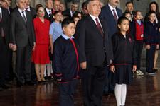 23 Nisan'da Anıtkabir'in ilk ziyaretçisi çocuklar oldu