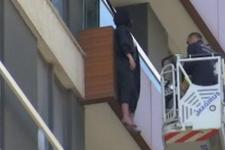 Yabancı uyruklu kadın balkonda asılı halde bulundu