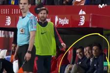 Sevilla yedek kulübesinden Messi'yi şaşırtan çıkış!