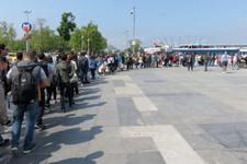 İstanbul'da 1 Mayıs'ta ilk kez böyle bir kuyruk oldu