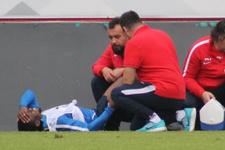 Trabzonspor antrenmanında korkutan sakatlık