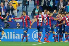 Levante Barcelona'nın namağlup serisini bitirdi
