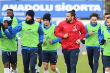 Trabzonspor 10 eksikle çalıştı