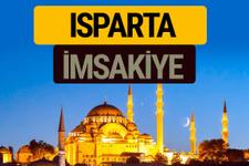 Isparta İmsakiye 2018 iftar sahur imsak vakti ezan saati