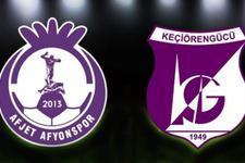 Afjet Afyonspor - Keçiörengücü maçı hangi kanalda saat kaçta?