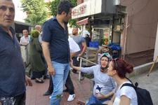 7 aylık hamile eşinin gözü önünde dövdüler