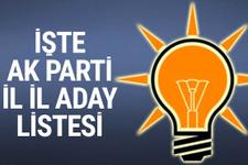 AK Parti milletvekili tam listesi işte il il adaylar