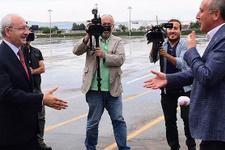 Kılıçdaroğlu ve İnce havalimanında karşılaştı