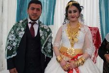Aşiret düğününde geline takılan altınlar şoke etti