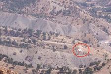 TSK'nın bir numaralı hedefi kandil dağı böyle görüntülendi! Öcalan, posteri asmışlar