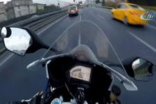200 metre hızla tek teker terörü!