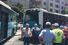 Şişli'de halk otobüsü çarpıştı! Yaralılar var