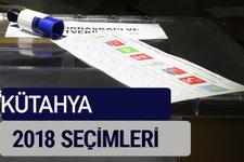 Kütahya oy oranları partilerin ittifak oy sonuçları 2018 - Kütahya