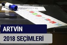 Artvin oy oranları partilerin ittifak oy sonuçları 2018 - Artvin